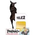 Tele2 Prepaid startpakket + gratis earphone twv 20.00